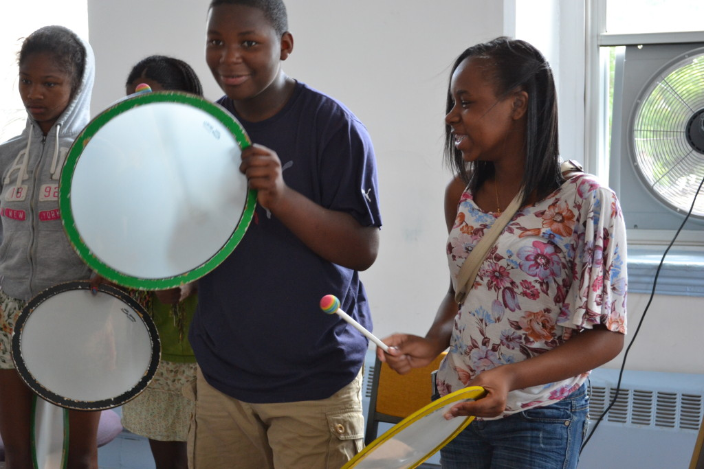 Students drum out music and friendship during HeartBeat